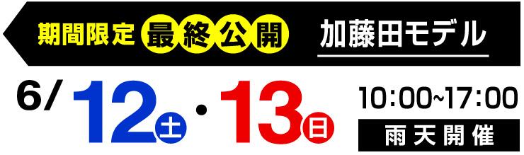 加藤田モデル最終公開・開催日6/12・13